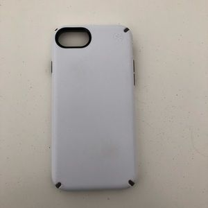 White speck iPhone case